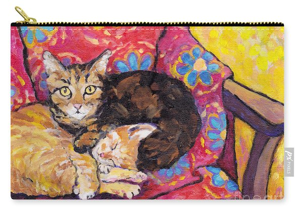 Two Cat Nap Carry-all Pouch