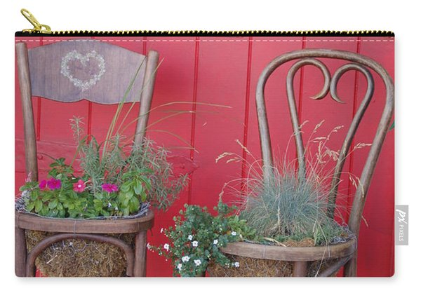 Two Chairs With Plants Carry-all Pouch