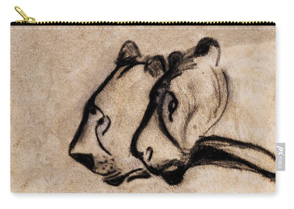 Two Chauvet Cave Lions - Clear Version Carry-all Pouch