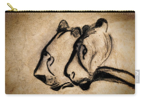 Two Chauvet Cave Lions Carry-all Pouch