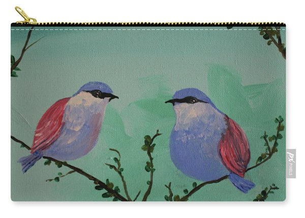 Two Chickadees Carry-all Pouch