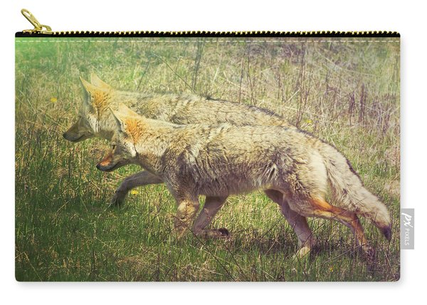 Two Coyotes Carry-all Pouch