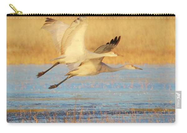 Two Cranes Cruising Carry-all Pouch