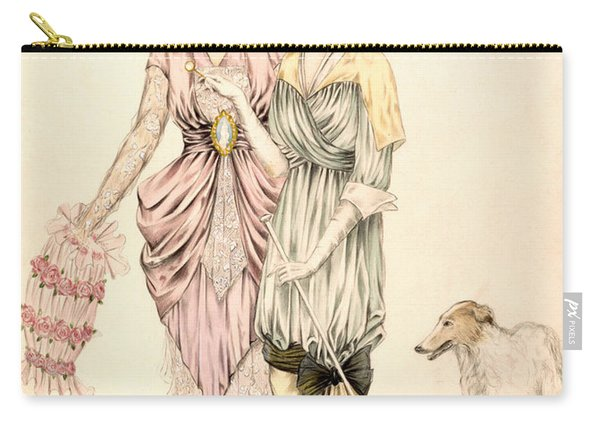 Two Dresses For The Goodwood Races Carry-all Pouch