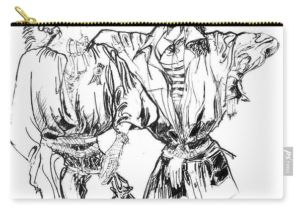 Two Fashion Girls Carry-all Pouch
