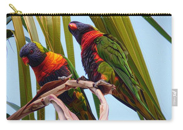 Two Feathered Friends  Carry-all Pouch