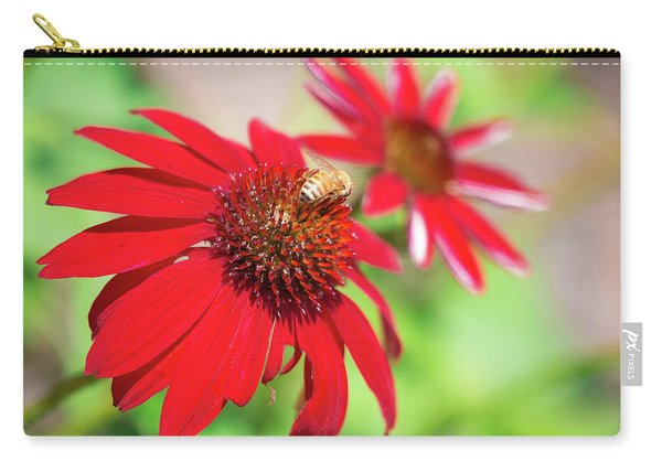 Carry-all Pouch featuring the photograph Two Flowers For Every Bee by Brian Hale