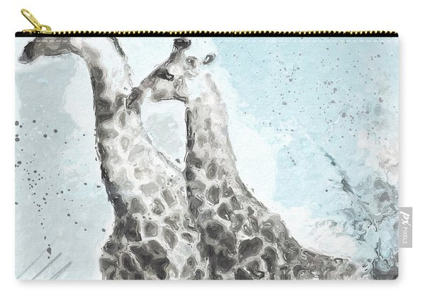 Two Giraffes- Art By Linda Woods Carry-all Pouch