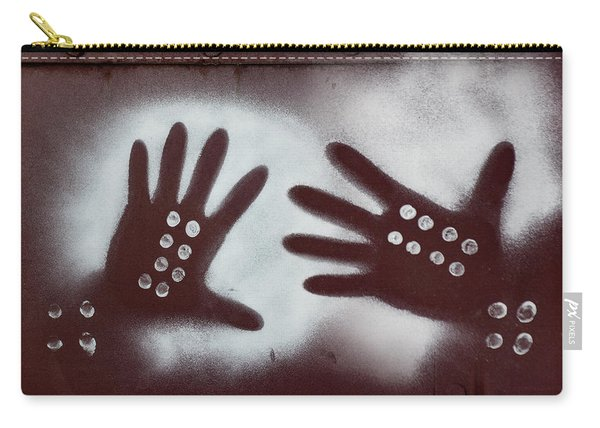 Two Hands On A Train Graffiti Carry-all Pouch