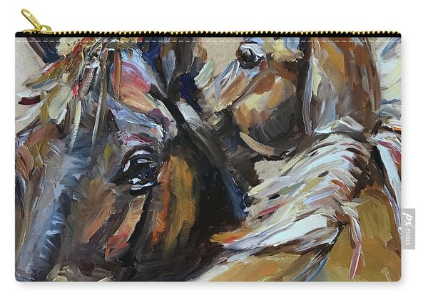 Two Horses Carry-all Pouch