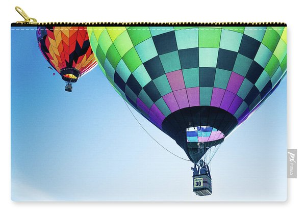 Two Hot Air Balloons Ascending Carry-all Pouch