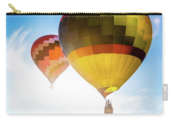 Two Hot Air Balloons Into The Sun Carry-all Pouch