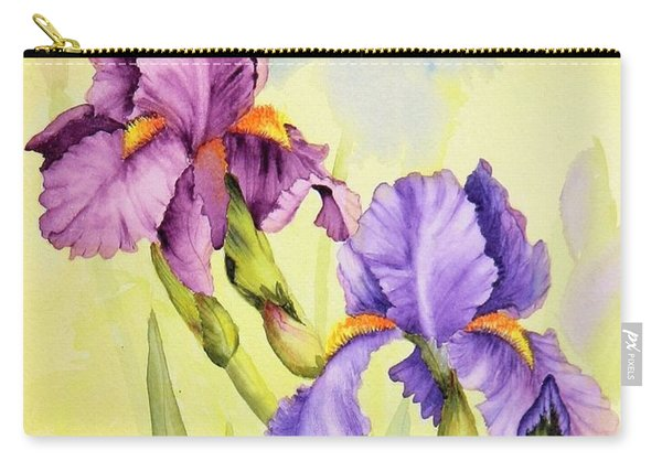 Two Irises  Carry-all Pouch