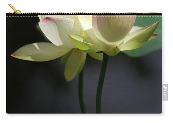 Two Lotus Flowers Carry-all Pouch