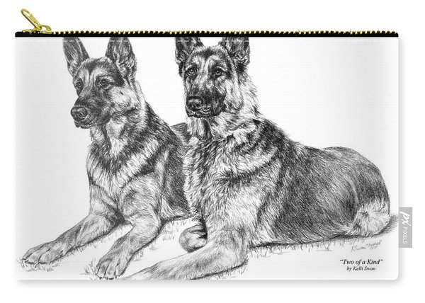 Two Of A Kind - German Shepherd Dogs Print Carry-all Pouch