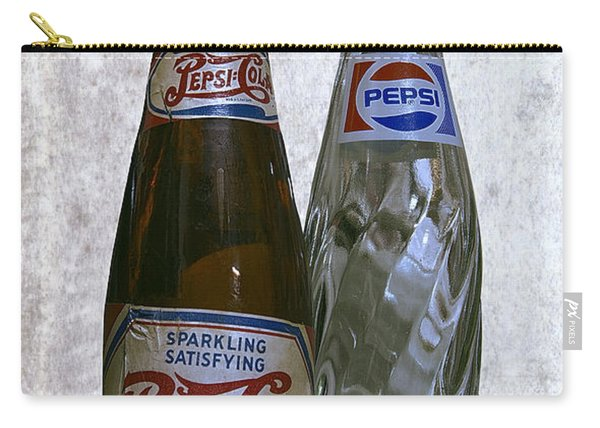 Two Pepsi Bottles On A Table Carry-all Pouch