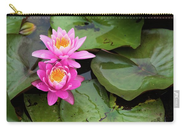 Two Pink Lilies Carry-all Pouch