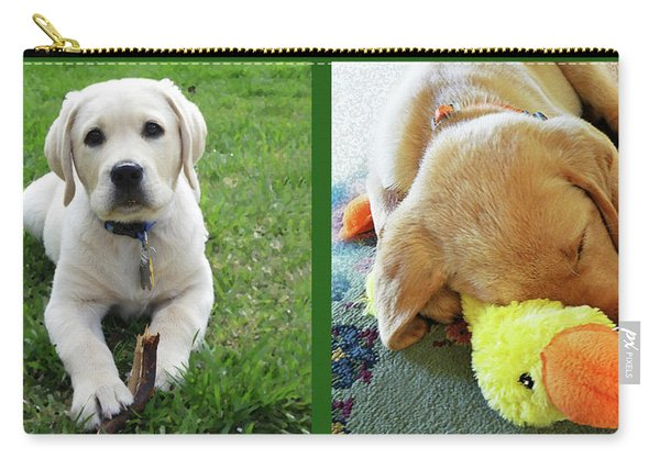 Two Puppies Two Yellow Labs Carry-all Pouch