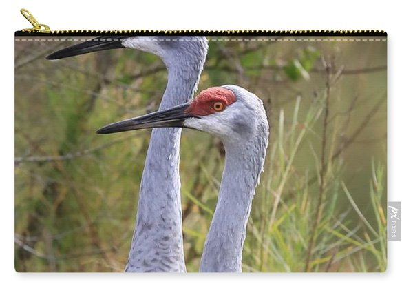 Two Sandhills In Green Carry-all Pouch