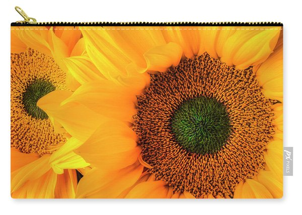 Two Stunning Sunflowers Carry-all Pouch