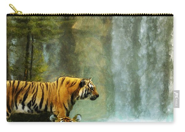 Two Tigers Carry-all Pouch