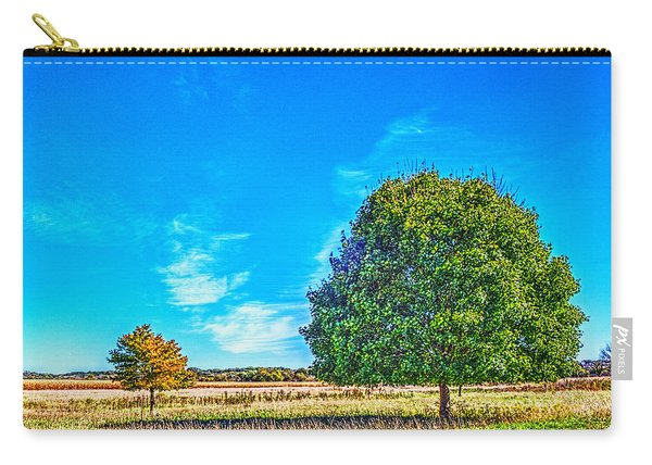 Two Trees On The Illinois Prairie Carry-all Pouch