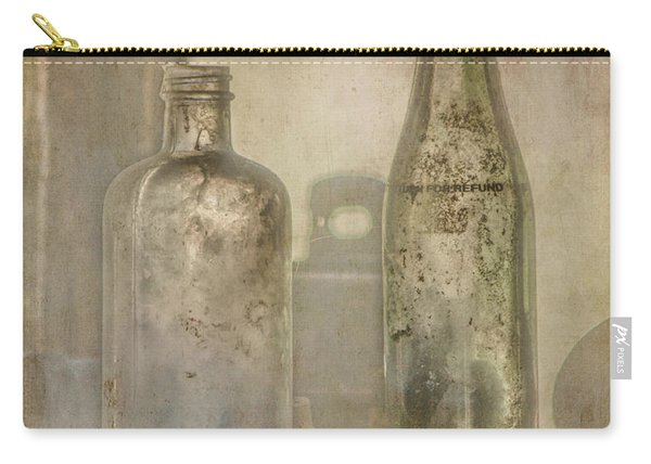 Two Vintage Bottles Carry-all Pouch