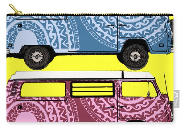 Two Vw Vans Carry-all Pouch