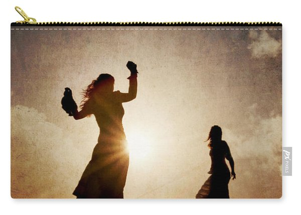 Two Women Dancing At Sunset Carry-all Pouch