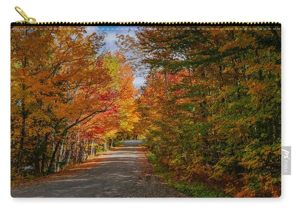 Typical Vermont Dirve - Fall Foliage Carry-all Pouch