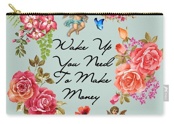Typography Flowers  Carry-all Pouch