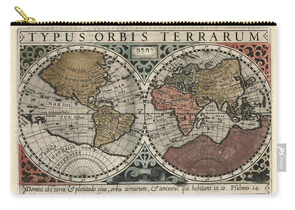 Typus Orbis Terrarum - Gerhard Mercator - 1607 - Historical Chart Carry-all Pouch