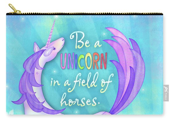 U Is For Unicorn Carry-all Pouch