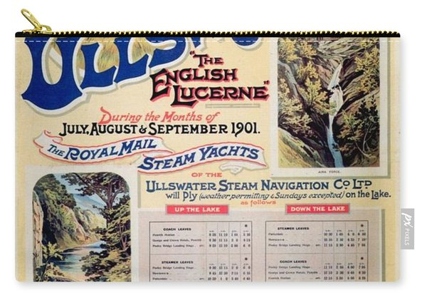 Ullswater - Great Northern Railway - Landscape Illustrations - Vintage Advertising Poster Carry-all Pouch