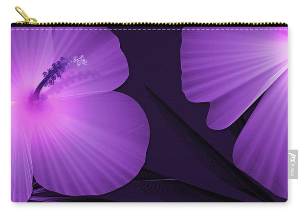 Ultraviolet Hibiscus Tropical Nature Print  Carry-all Pouch