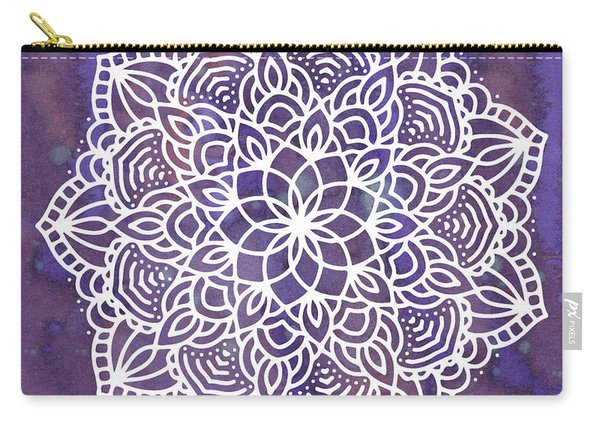 Ultraviolet Mandala Carry-all Pouch