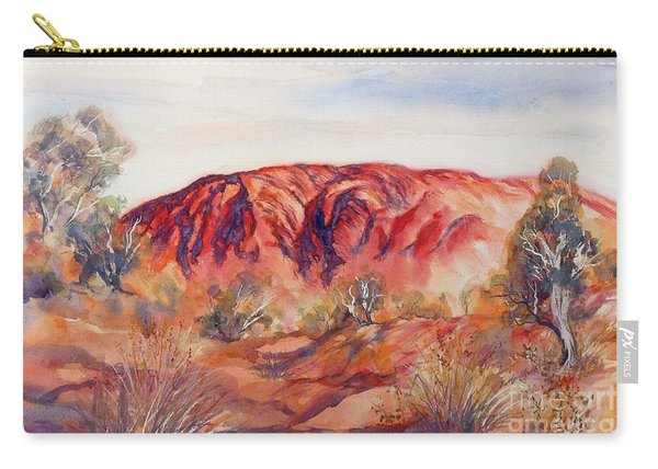 Carry-all Pouch featuring the painting Uluru, Central Australia, by Ryn Shell