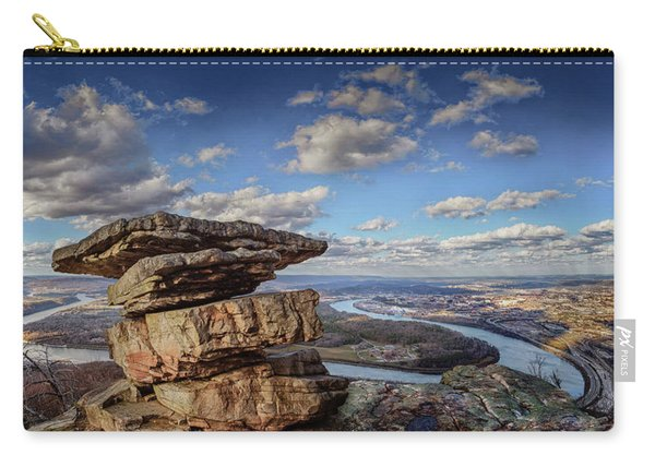 Umbrella Rock Overlooking Moccasin Bend Carry-all Pouch