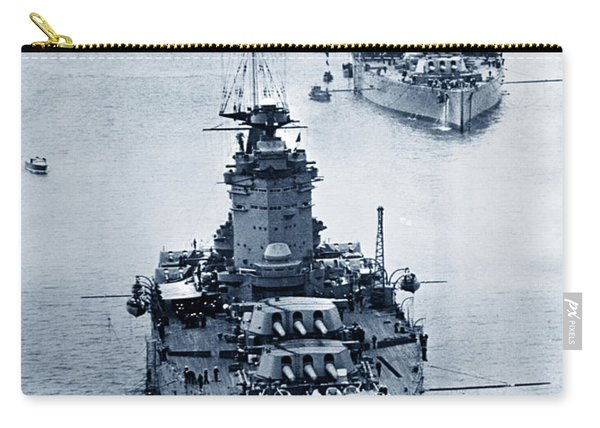 Hms Nelson And Hms Rodney Battleships And Battlecruisers Hms Hood Circa 1941 Carry-all Pouch
