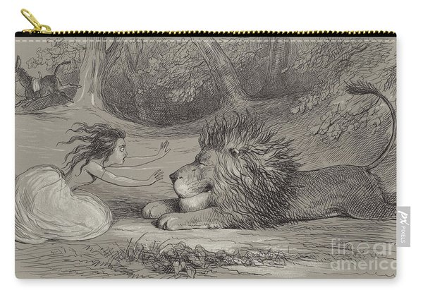 Una And The Lion  Carry-all Pouch