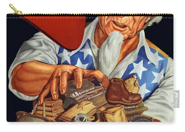 Uncle Sam - Yours For Victory Carry-all Pouch