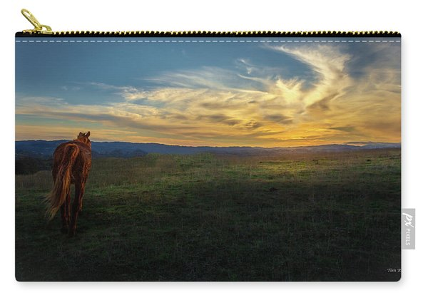 Under A Bright Evening Sky Carry-all Pouch