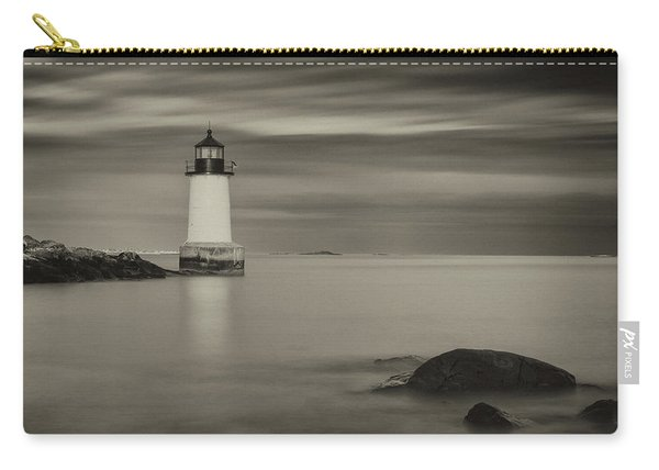 Carry-all Pouch featuring the photograph Under A Pale Grey Sky by Brian Hale