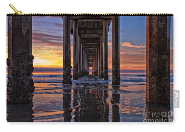Carry-all Pouch featuring the photograph Under The Scripps Pier by Sam Antonio Photography