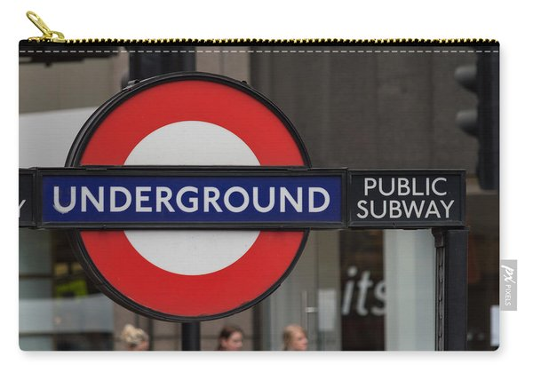Underground Sign London Carry-all Pouch