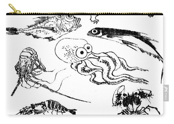 Undersea Creatures, From A Manga Carry-all Pouch