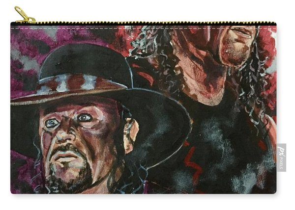 Carry-all Pouch featuring the painting Undertaker And Kane by Joel Tesch