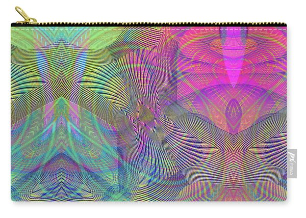 Carry-all Pouch featuring the digital art Underwater World II by Visual Artist Frank Bonilla