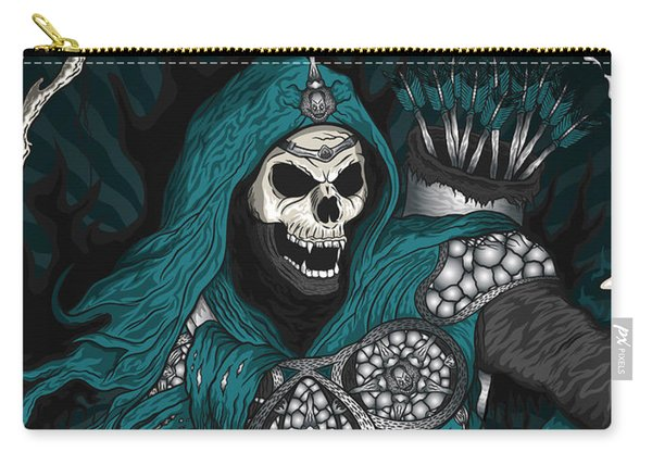 Carry-all Pouch featuring the painting Underworld Archer Of Death by Raphael Lopez