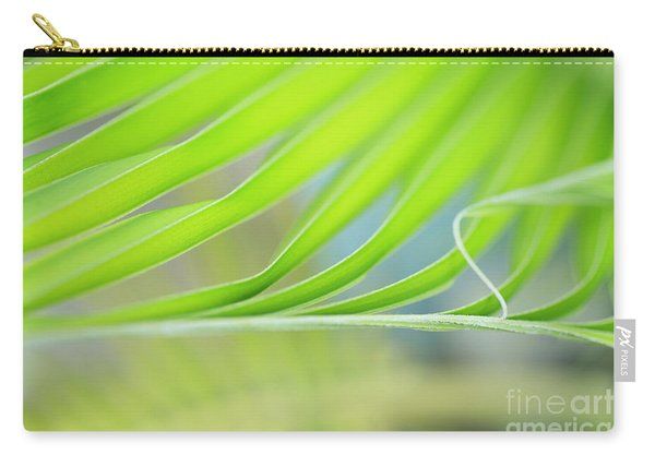Unfurling Palm Leaf Macro Carry-all Pouch